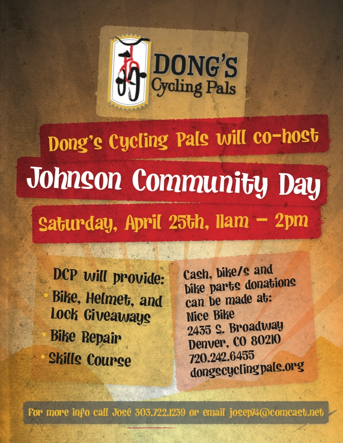 Dong's Cycling Pals-Johnson Community Day Flyer